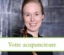 Marie-Eve Bordeleau, Acupuncteure